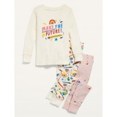 "3-Piece ""Make the Future"" Graphic Pajama Set for Toddler & Baby"
