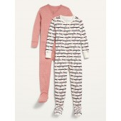 Printed Footie Pajama One-Piece 2-Pack for Toddler & Baby