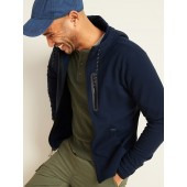 Dynamic Fleece Pique Zip Hoodie for Men