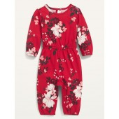 Printed Long-Sleeve Jumpsuit for Baby