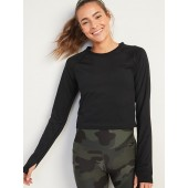 Powersoft Mesh-Back Long-Sleeve Performance Top for Women