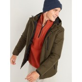 Water-Resistant Nylon Ripstop Hooded Jacket for Men