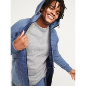 Dynamic Fleece Quilted-Front Zip Hoodie for Men