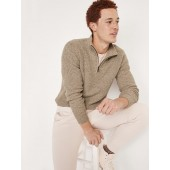 Cozy Mock-Neck Quarter-Zip Sweater for Men