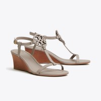 MILLER WEDGE SANDAL, TUMBLED LEATHER