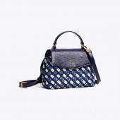 ROBINSON WOVEN SMALL TOP-HANDLE SATCHEL