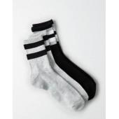 AEO Black Crew Socks 2-Pack