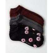 AEO Donuts Low Cut Socks 3-Pack
