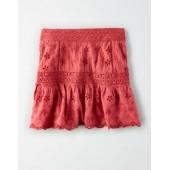 AE High-Waisted Lace Mini Skirt