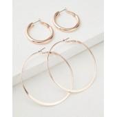 AEO Rose Gold Hoop Earrings 2-Pack