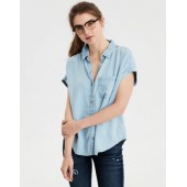 AE Short Sleeve Tencel Button-Down Shirt