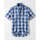 AE Short Sleeve Poplin Button Up Shirt