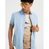 AE Striped Denim Button Up Shirt