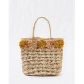 Aerie Pom Straw Bag
