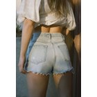 BDG Girlfriend High-Rise Denim Short  Light Wash