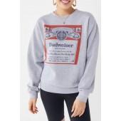 Junk Food Budweiser Classic Crew-Neck Sweatshirt