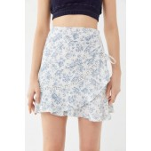 MINKPINK Skye Rose Floral Mini Wrap Skirt