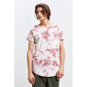 UO Washed Scoop Neck Curved Hem Tee