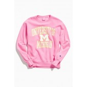 Champion University Of Michigan Neon Crew Neck Sweatshirt
