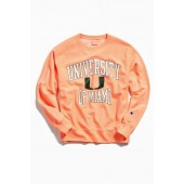 Champion University Of Miami Neon Crew Neck Sweatshirt