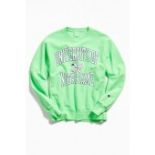Champion University Of Notre Dame Neon Crew Neck Sweatshirt
