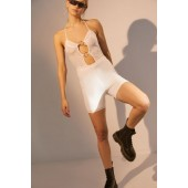 I.AM.GIA Kendra Mesh Plunging O-Ring Romper