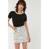 Lazy Oaf X Studio Arhoj Printed Denim Mini Skirt