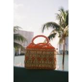 Maddie Wooden Beaded Handbag
