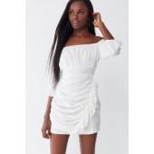 UO Ruffle Off-The-Shoulder Mini Dress