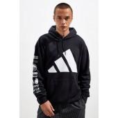 adidas Trefoil Print Hoodie Sweatshirt