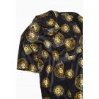 UO Astro Sun Satin Short Sleeve Button-Down Shirt