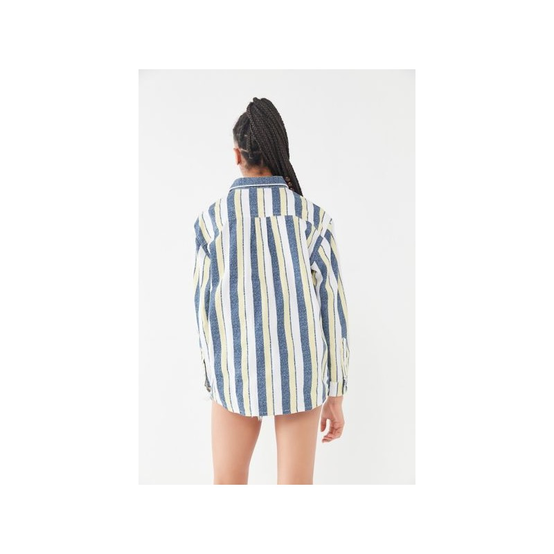 [퀵실버] Quiksilver Striped Long Sleeve Button-Down Shirt