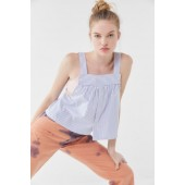 Urban Renewal Remade Striped Shirting Tank Top