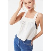 Urban Renewal Remade White Shirting Tank Top