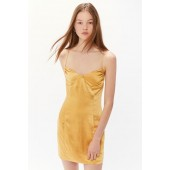 Third Form Final Say Satin Cross-Back Mini Dress