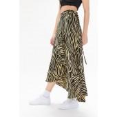 Faithfull The Brand Jasper Zebra Print Wrap Skirt