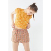 Urban Renewal Remnants Bright Plaid Pull-On Short