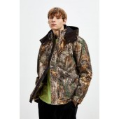 Bass Camo Long Hooded Hunting Jacket