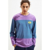 Dockers Logo Stripe Long Sleeve Tee