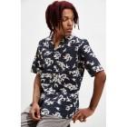 Roi Du Lac Small Bird Print Short Sleeve Button-Down Shirt