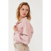 BDG Twill Zip-Front Cropped Jacket