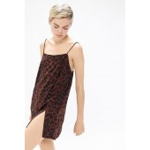 Motel Datista Leopard Print Slip Dress