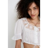 UO Lace Detail Pansy Blouse