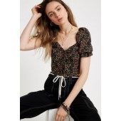 UO Terry Sweetheart Blouse