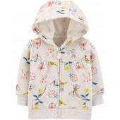 Baby Girls Zip-Up Fleece Hoodie