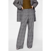 WIDE LEG CHECKERED PANT