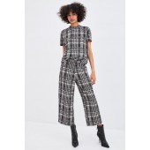 JACQUARD PANTS WITH BUCKLE