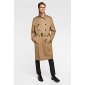 DOUBLE-BREASTED WATER REPELLENT TRENCH COAT