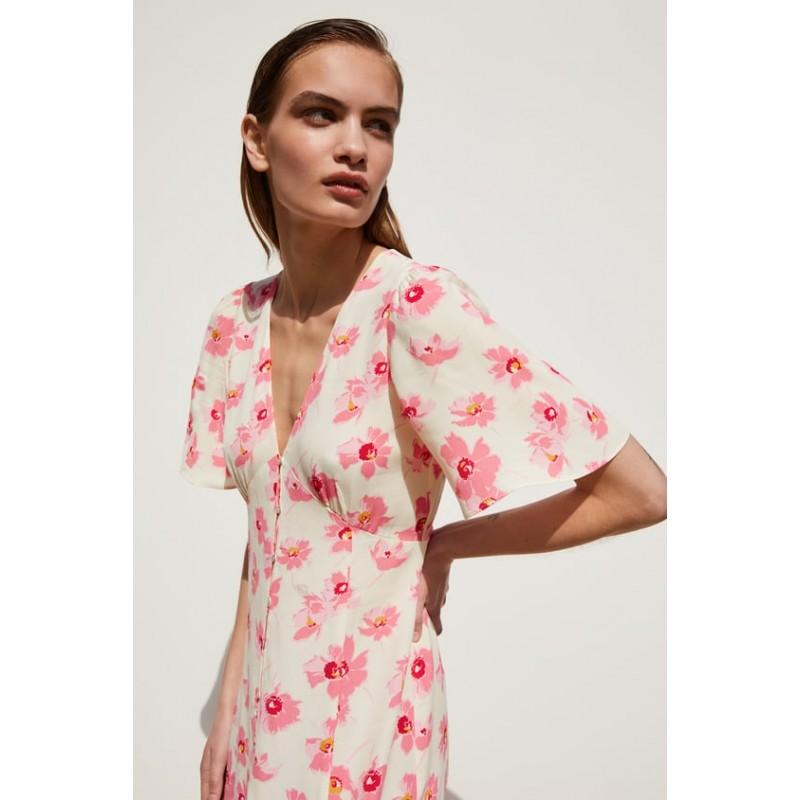 [자라] FLORAL PRINT DRESS