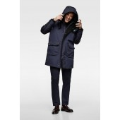 PUFFER PARKA WITH TRIM